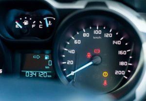 snelheidsmeter met kms