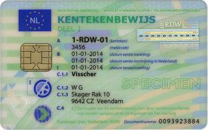 kentekenbewijs auto nederland